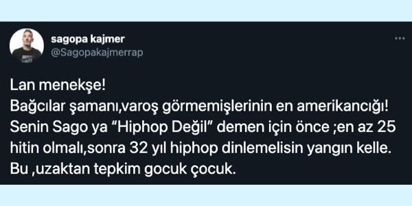 """Sagopa Kajmer'den Kendisine """"Hip Hop Değil"""" Diyen Rapçi Tepki'ye Sert Yanıt"""